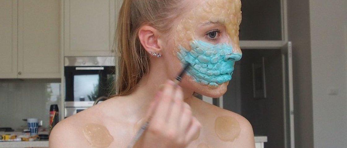 20 maquiagens monstruosas feitas por uma adolescente de 16 anos