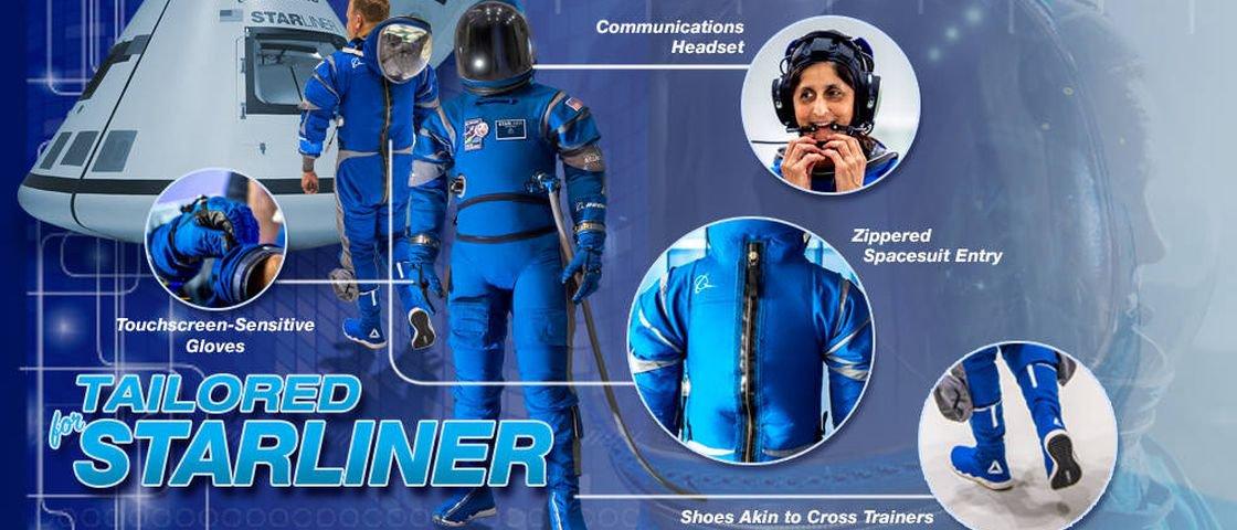 Boeing divulga traje das futuras missões espaciais