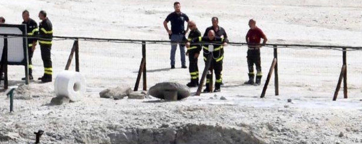 Três pessoas da mesma família morrem depois de cair em cratera de vulcão