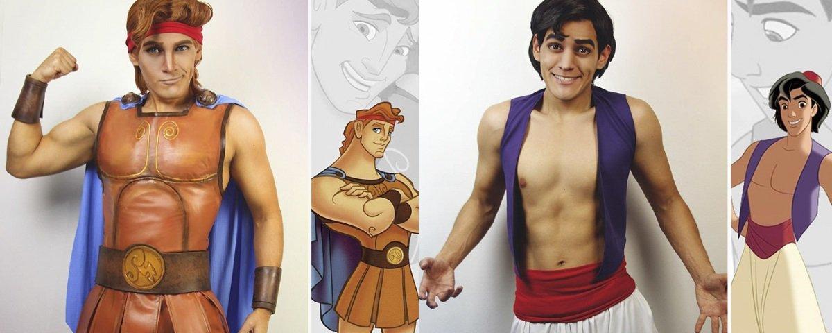 Este cara é capaz de se transformar em diversos personagens da Disney