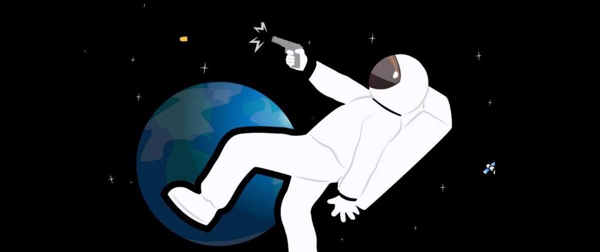 O que aconteceria se disparássemos uma arma de fogo no espaço?