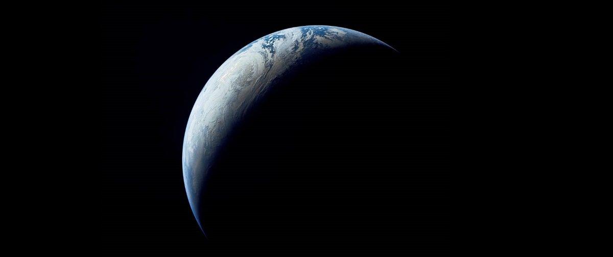 Esta lindíssima imagem da Terra — esférica — foi clicada em 1967