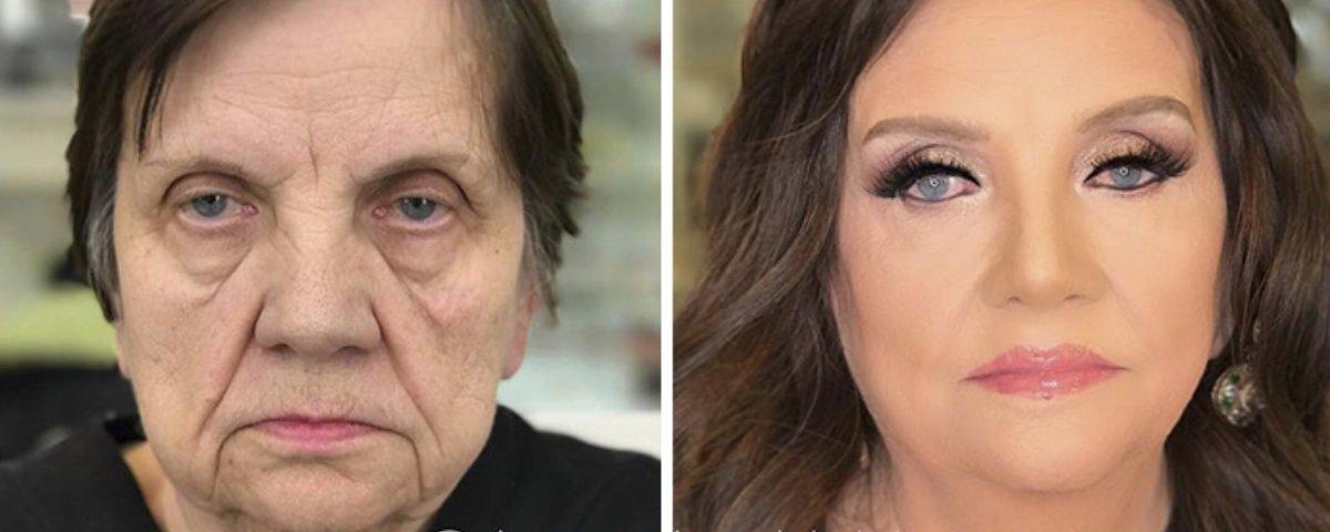 Maquiador faz suas clientes aparentarem ter décadas a menos de idade – veja