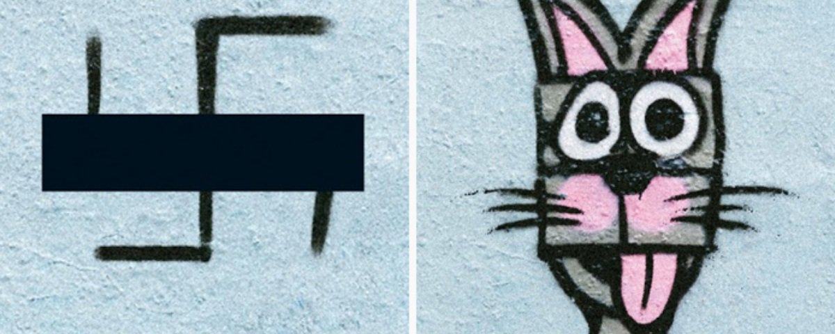 Artistas em Berlim estão cobrindo as suásticas desenhadas pela cidade