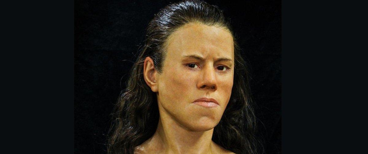 Impressionante: este seria o rosto de uma jovem da Idade da Pedra