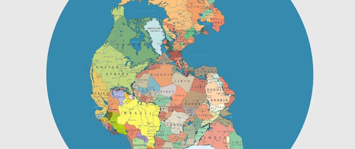 Descubra como os países ficariam distribuídos no supercontinente Pangeia
