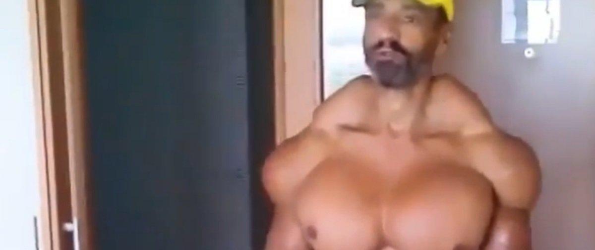 """Por quê? Nova imagem mostrando """"músculos de óleo"""" assombra a internet"""