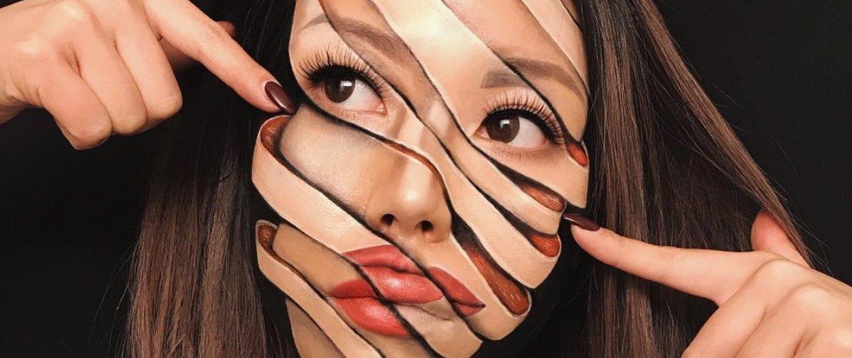 As maquiagens desta artista vão confundir o seu cérebro