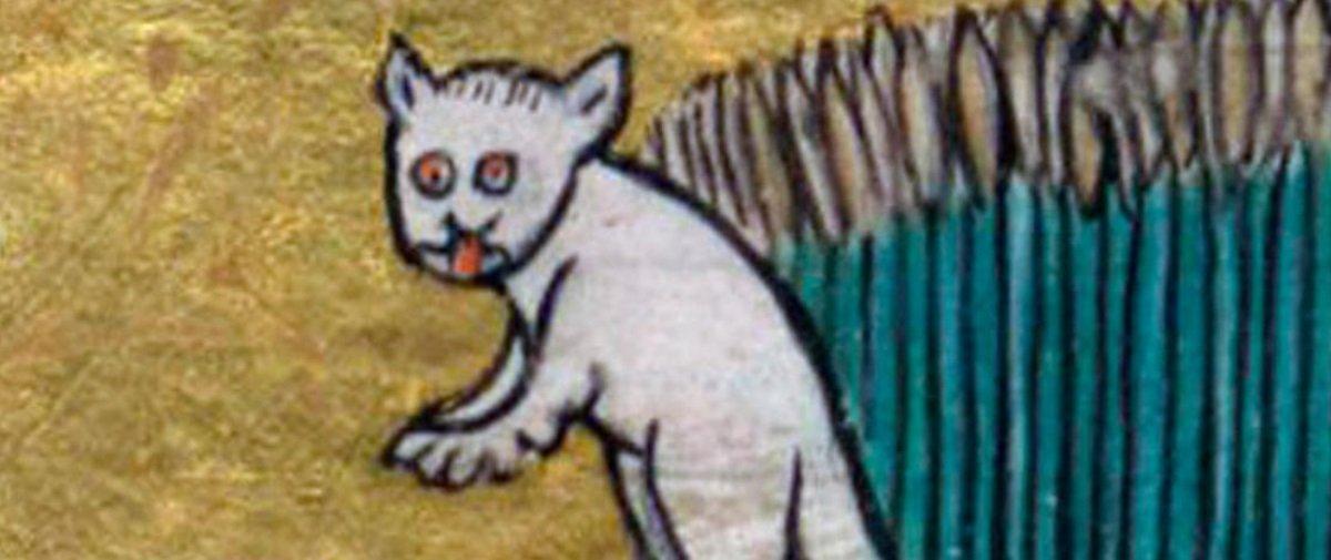 Você já reparou nos gatos bizarros que a galera da Idade Média desenhava?