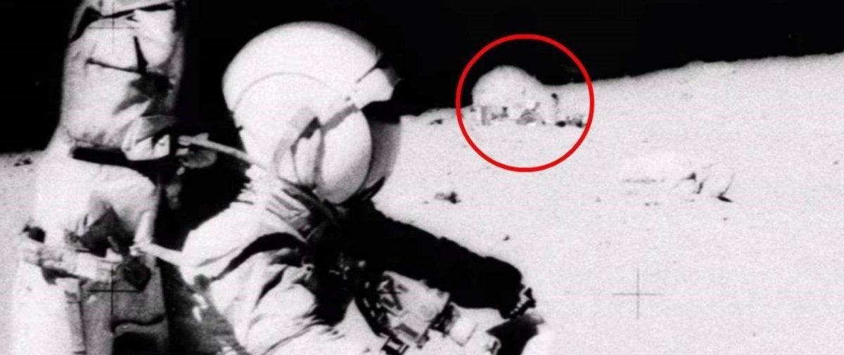 Teóricos da conspiração dizem que isto em destaque seria uma base lunar