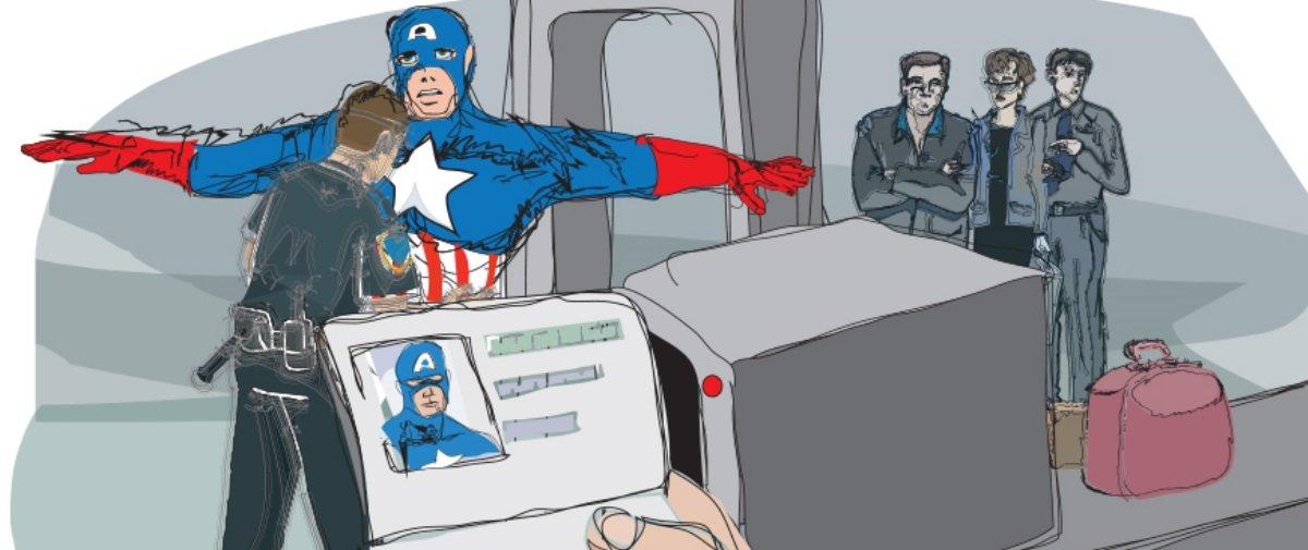 Ilustrador imagina heróis e vilões enfrentando situações cotidianas