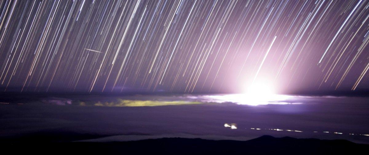 Esse clarão imenso foi provocado pela erupção do Kilauea, no Havaí