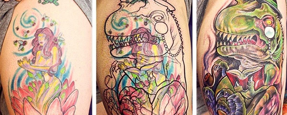 Mais 13 reconstruções incríveis de tatuagens feias