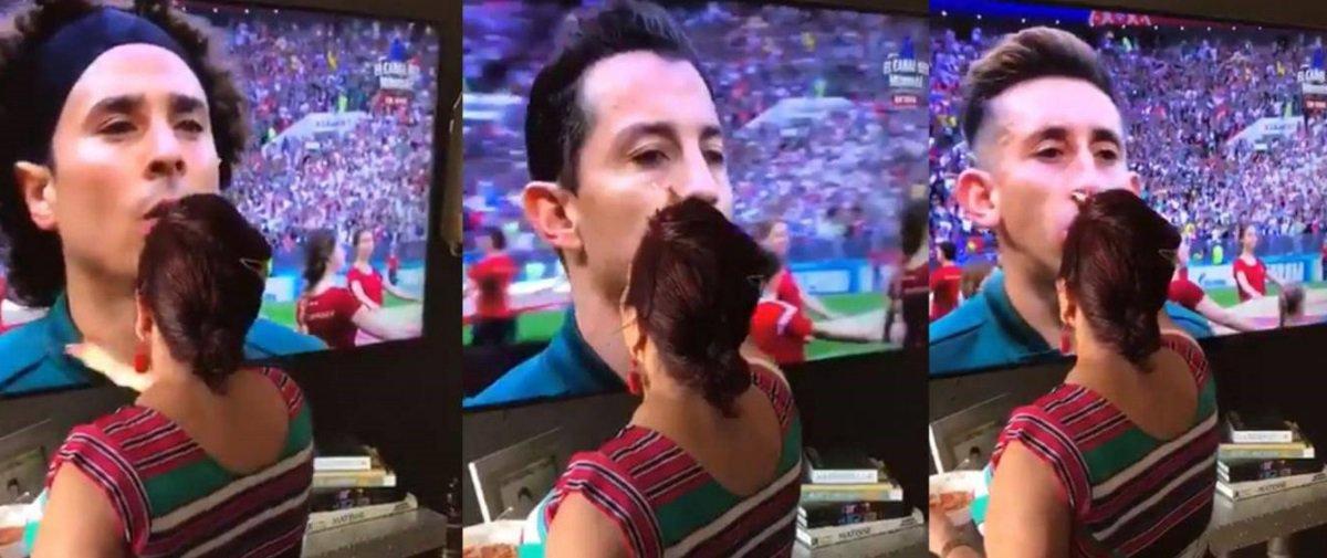 Estão dizendo que foi a mandinga desta avó que garantiu a vitória do México