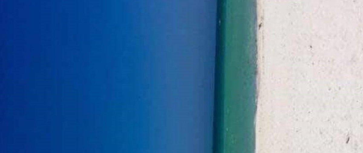 Praia ou porta azul? O que você acha que esta imagem mostra?