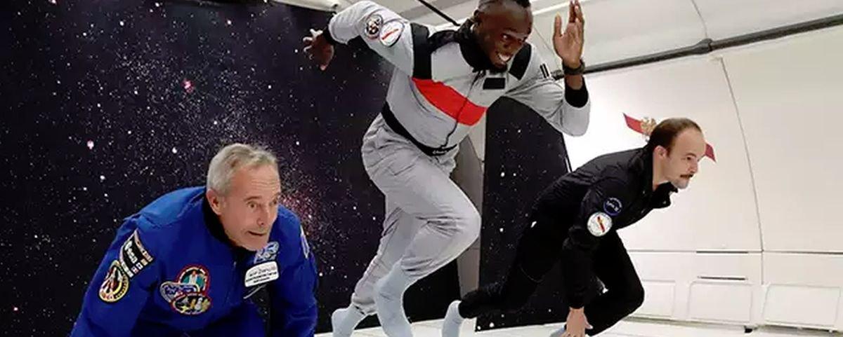 Usain Bolt é o homem mais rápido do mundo mesmo em gravidade zero