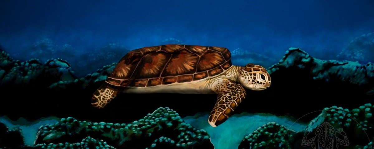 Acredite! Isso na imagem não é uma tartaruga de verdade, mas uma mulher nua