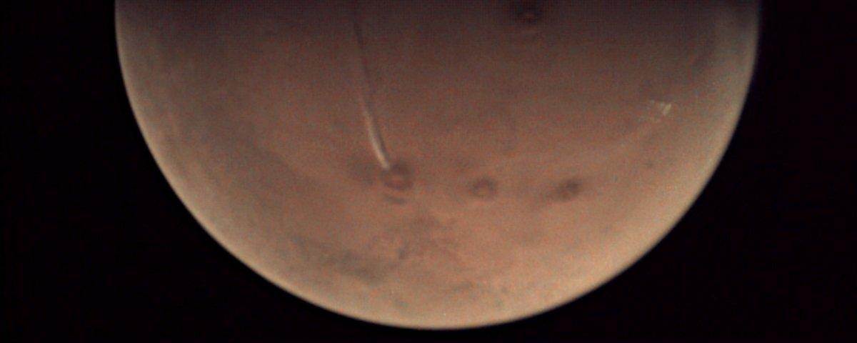 Estão dizendo que um vulcão teria entrado em erupção em Marte