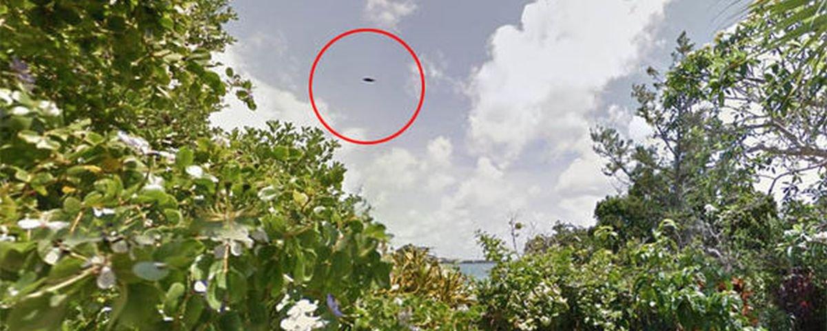 Suposto disco voador é descoberto sobre Bermuda no Google Street View
