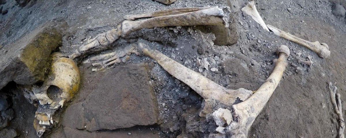 Acharam esqueletos que permaneceram quase 2 mil anos intocados em Pompeia