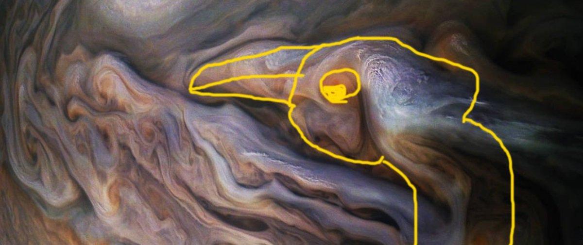 Estão achando uma porção de formas familiares nas nuvens de Júpiter!