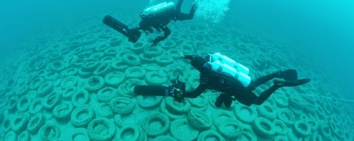 Erro crítico: a história do recife que seria feito com pneus descartados