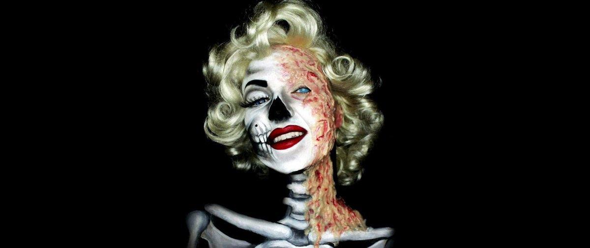 As maquiagens sanguinolentas desta artista são de provocar pesadelos