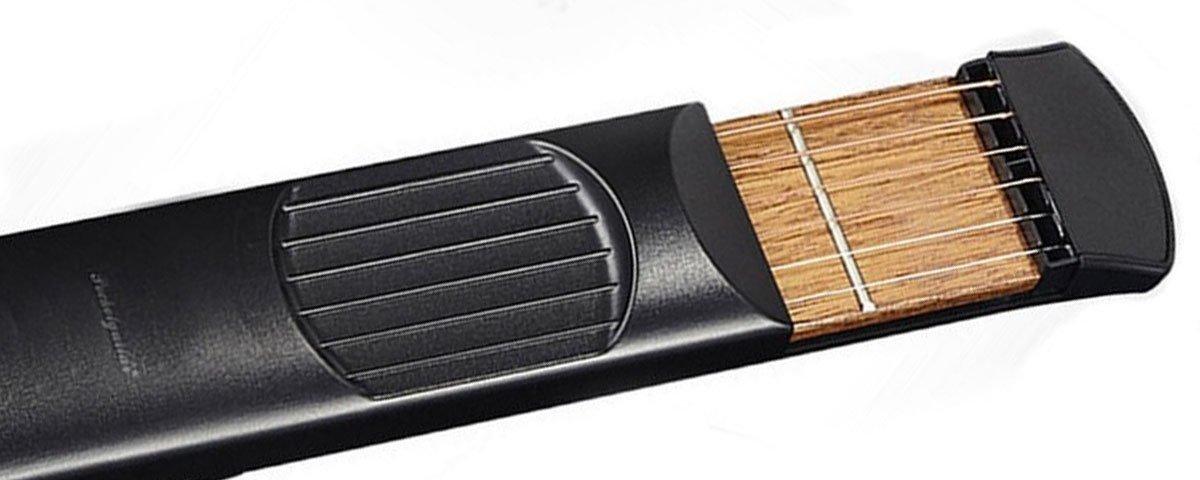 Esse dispositivo permite que você toque violão sem o instrumento