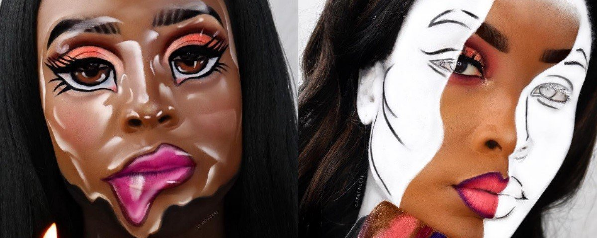 Esta artista cria ilusões de óptica insanas com maquiagem. Veja!