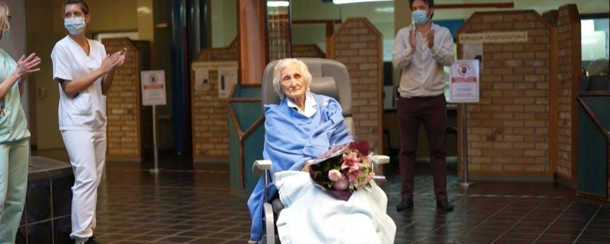 Mulher belga de 100 anos se recupera do coronavírus