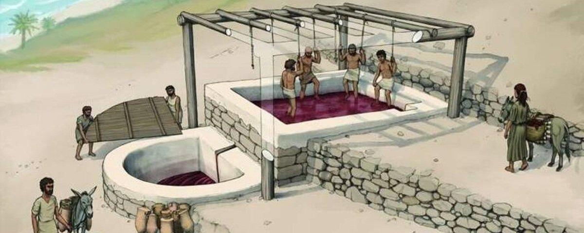 Arqueólogos encontram reservatório fenício para 5 mil litros de vinho
