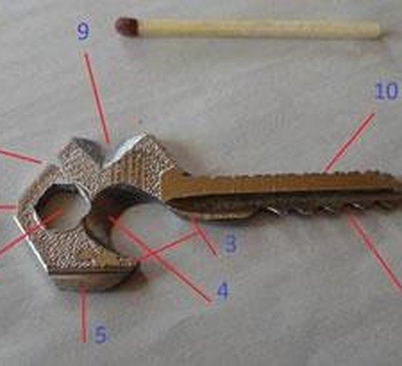 Transforme uma chave em 'canivete suíço'