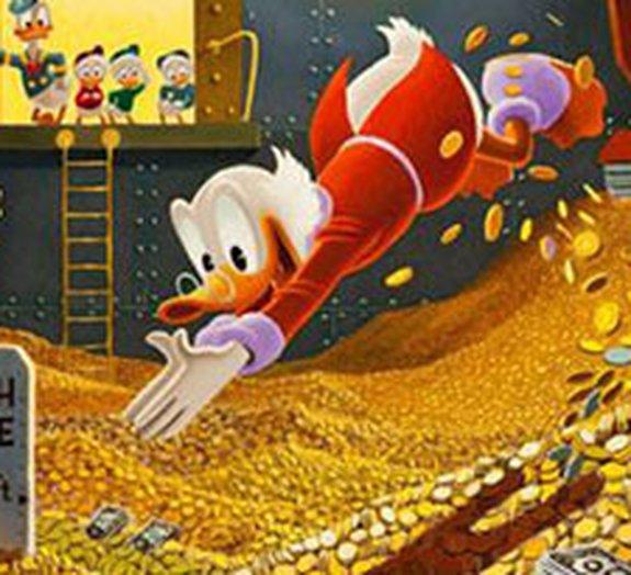 Quantas moedas seriam necessárias para nadar como o Tio Patinhas?