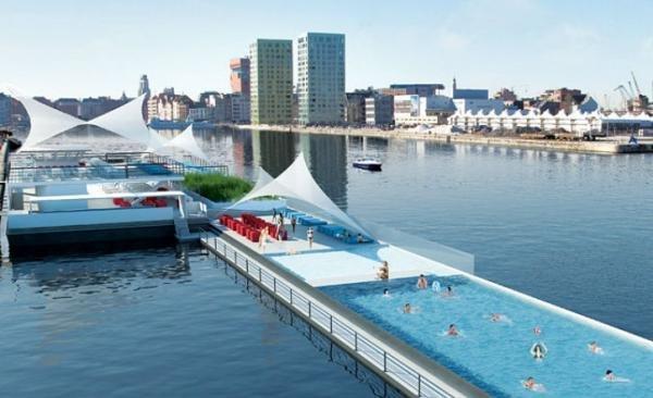 Badboot: conheça a piscina olímpica flutuante