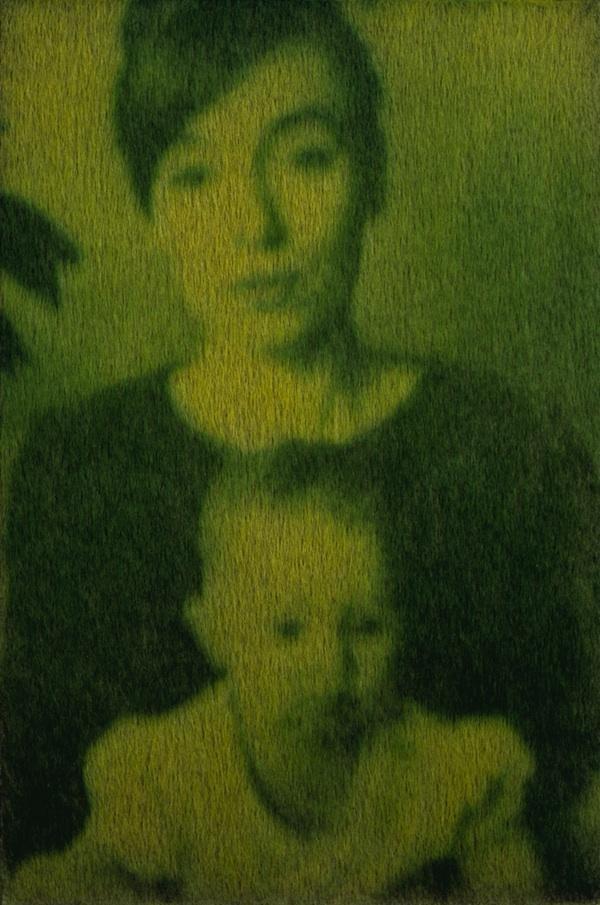 Arte verde: designers manipulam clorofila para criar retratos com grama