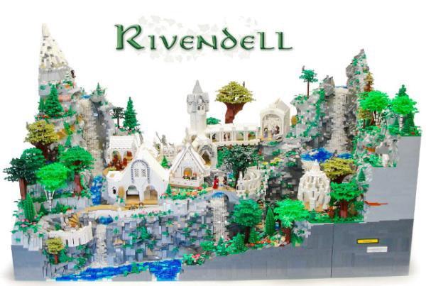 Criança constrói mapa de Valfenda usando peças de LEGO