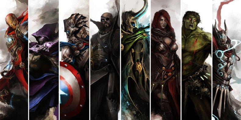 E se 'Os Vingadores' tivessem surgido no mundo de 'O Senhor