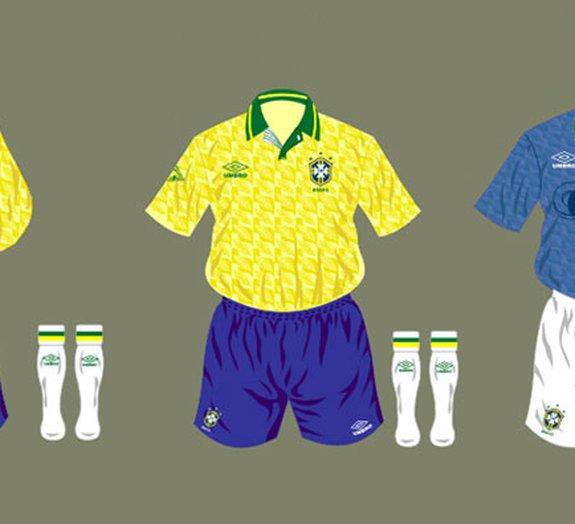 Conheça as camisas que já foram vestidas pela Seleção Canarinho