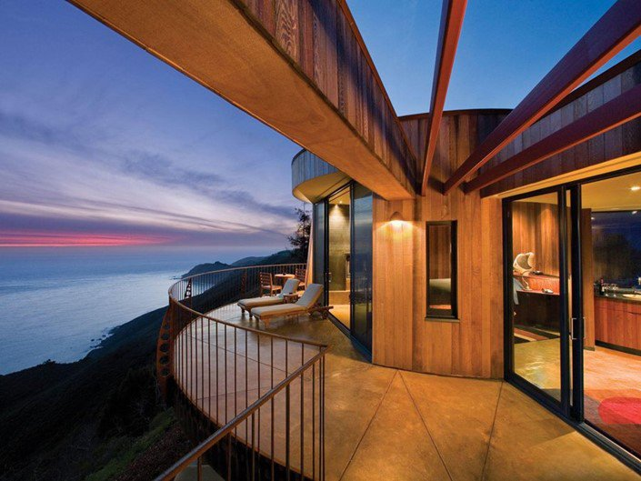 14 - Post Ranch Inn, Big Sur, Califórnia (EUA)