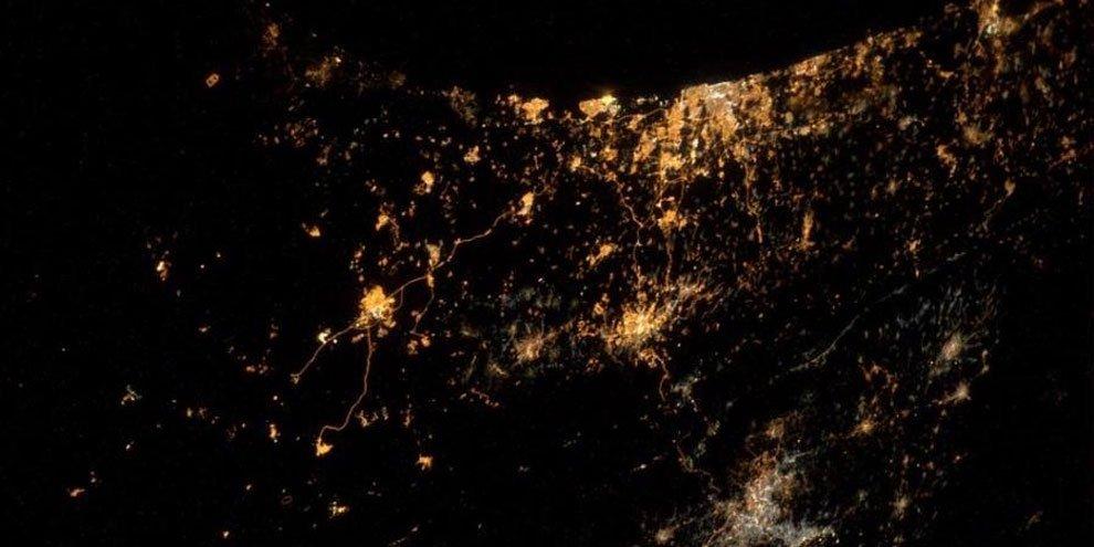 Foto tirada do espaço revela a triste realidade do território palestino - Mega Curioso