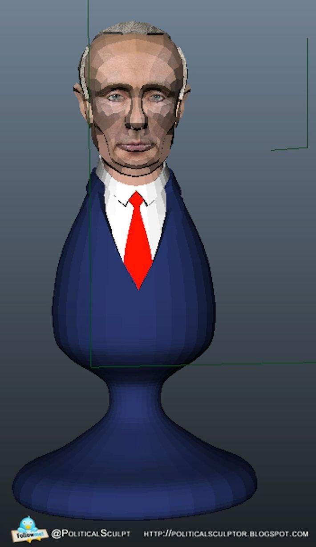 Vladimir Putin vira brinquedo sexual gay por meio de impressão 3D