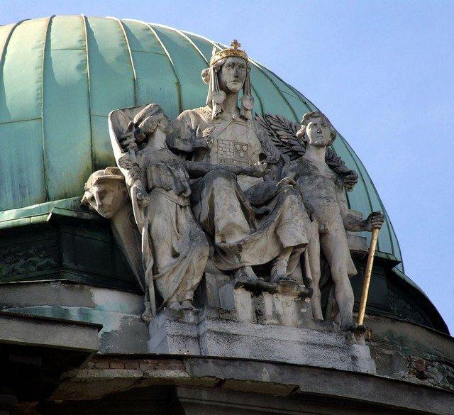 Detalhe de edifício de Zabgreb