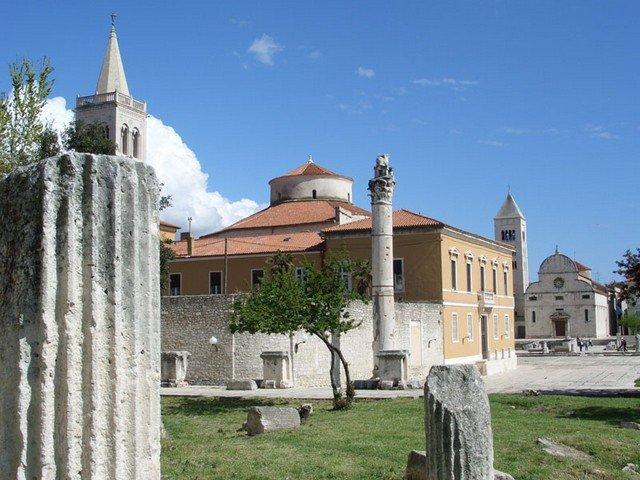 Antigo Fórum Romano em Zadar