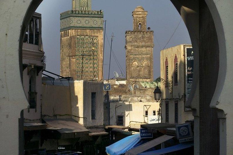Madraça Bou Inania através de outro ângulo