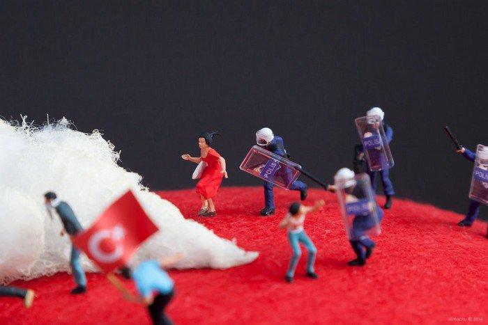 Cena montada para exposição em Istambul.
