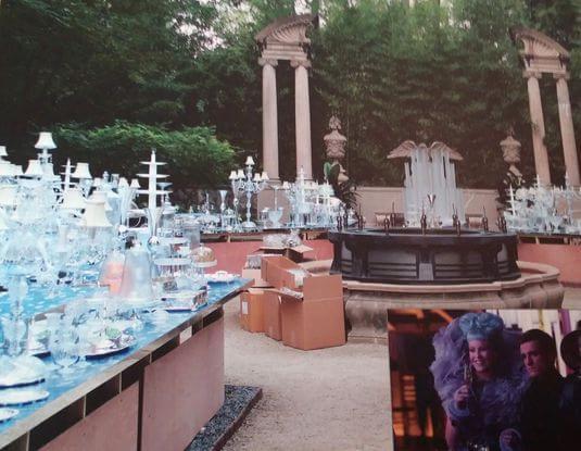 Foto em exposição mostra cenas dos bastidores de Jogos Vorazes: Em Chamas.