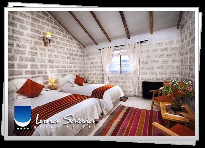 Hotel em pleno deserto na Bolívia é feito inteiramente de blocos de sal