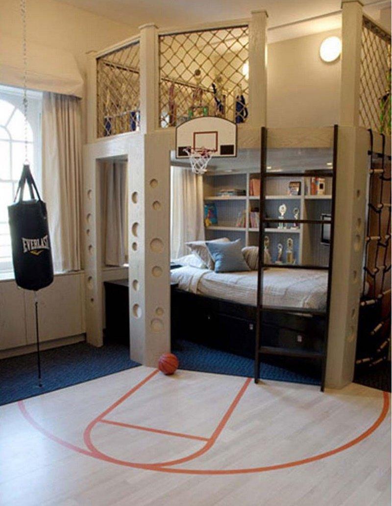 Quarto para os amantes de basquete