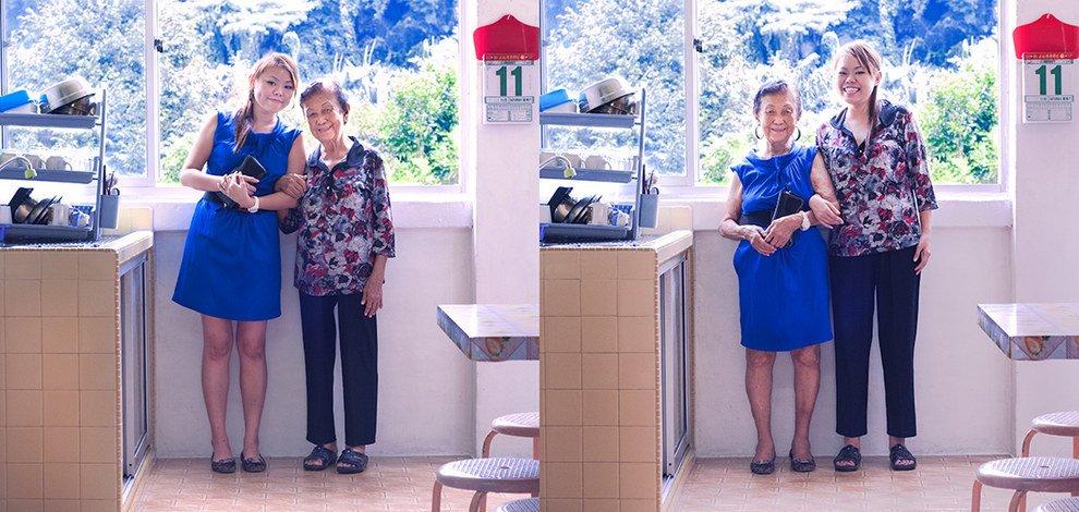 Avós e netos mudam de roupa para mostrar o choque entre gerações