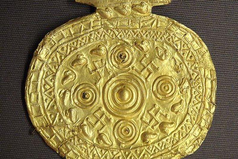 Pingente etrusco descoberto em Bolsena, na Itália